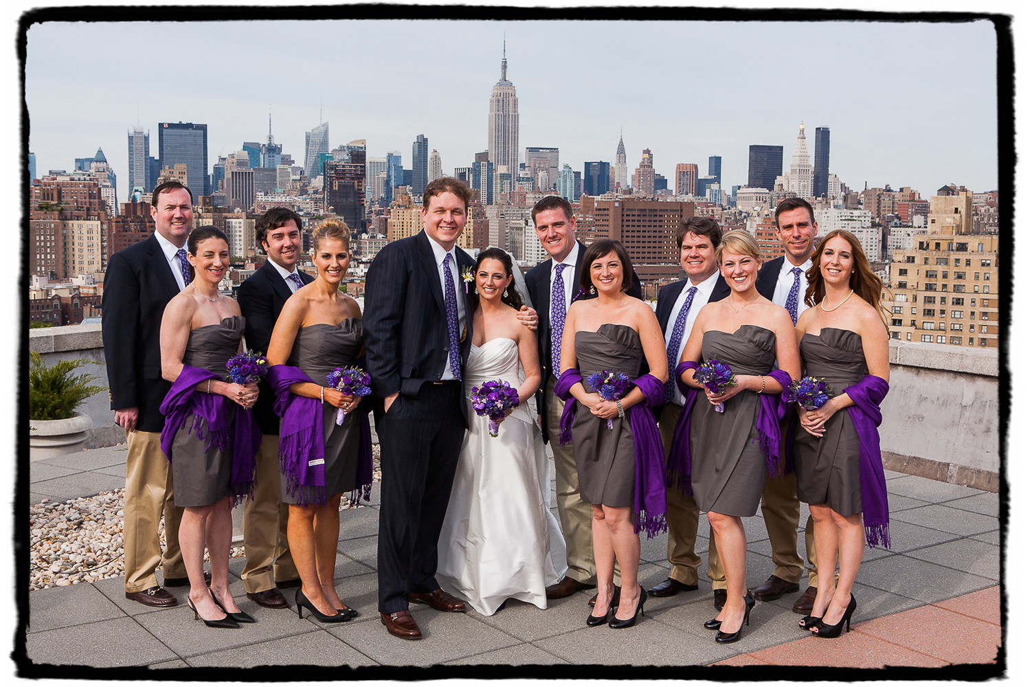 Peter and Allison's manhattan rooftop provided a great backdrop with the skyline.