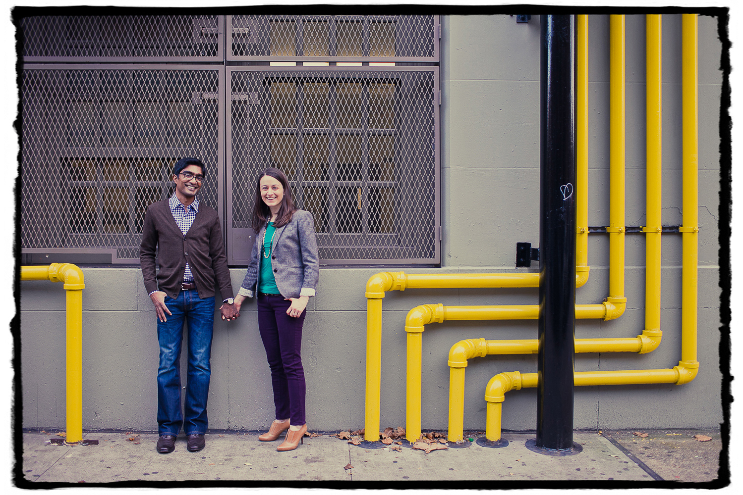 Engagement Portraits: Katie & Sharmilan on the streets of Chelsea.