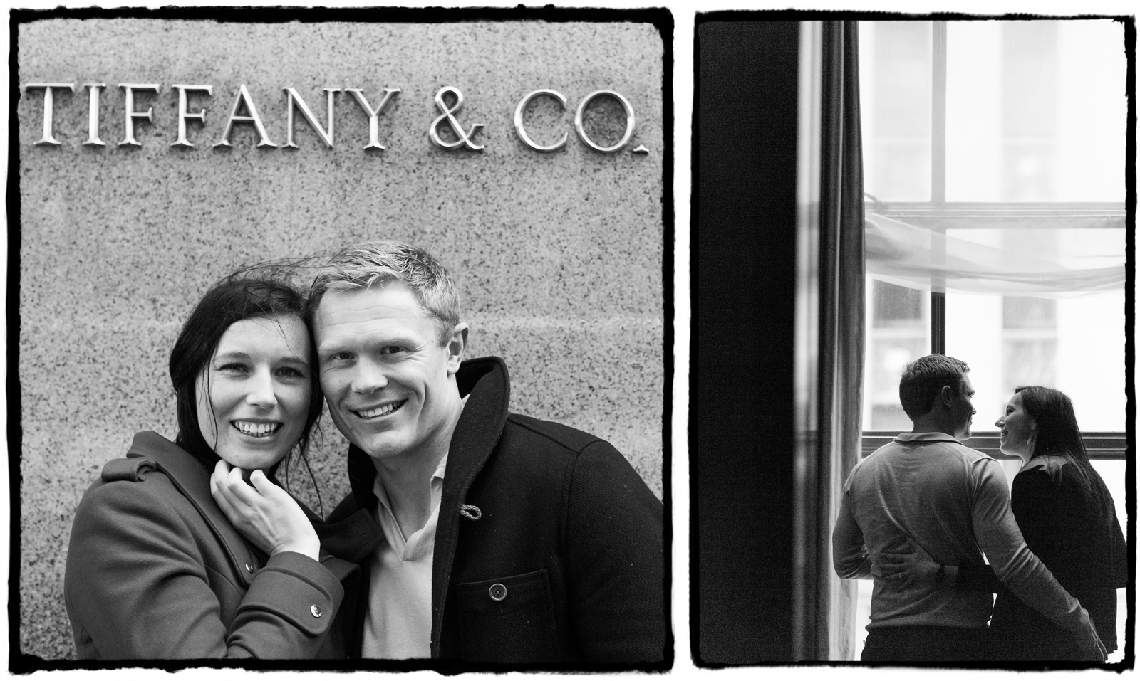 After she said yes, I documented their trip to TIffany's flagship store on Park Ave.