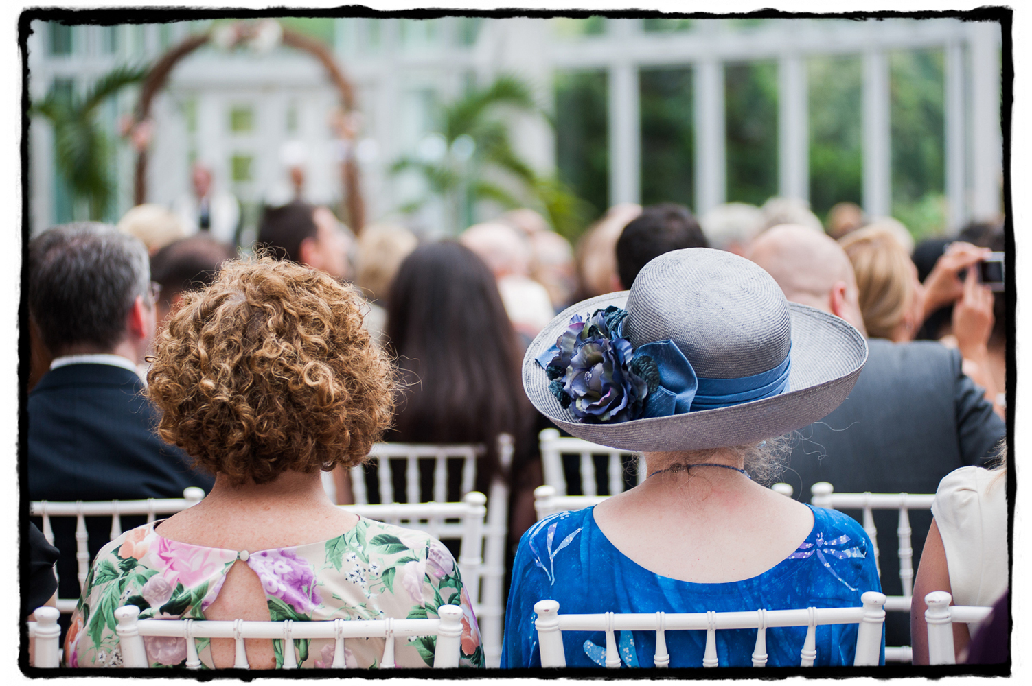 Indoor ceremony at The Palm House, Brooklyn Botanic Garden.