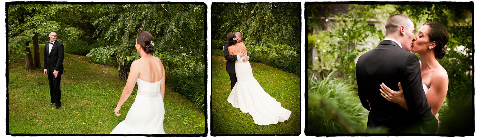 Ben and Nicole share a warm embrace at the Tarrytown House Estate.