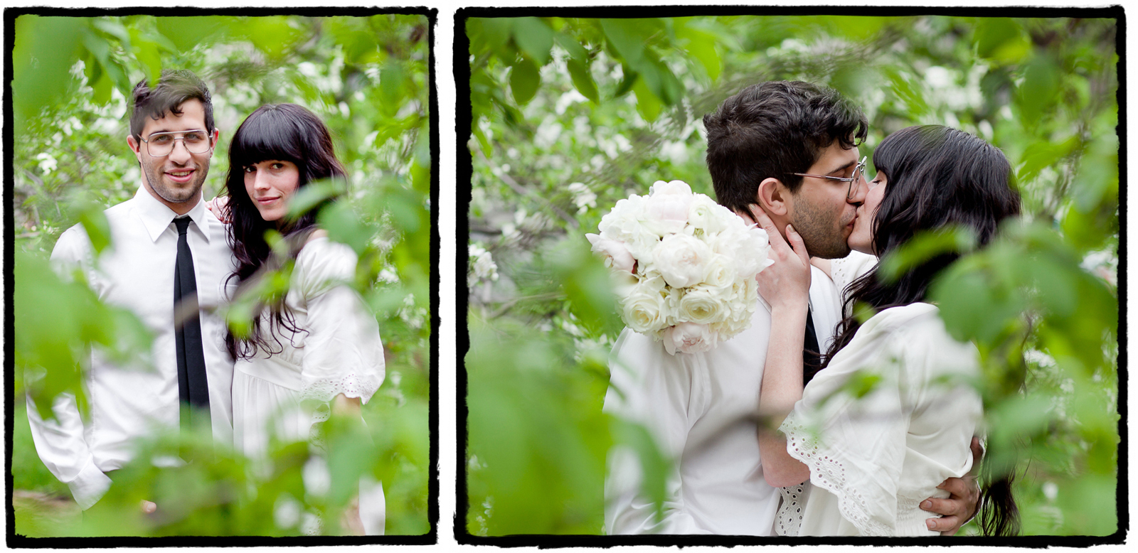 Mookie & Lisa were married at City Hall in Manhattan.  I took these photos of them in the little tiny park across the street from the entrance to the city clerk's building.