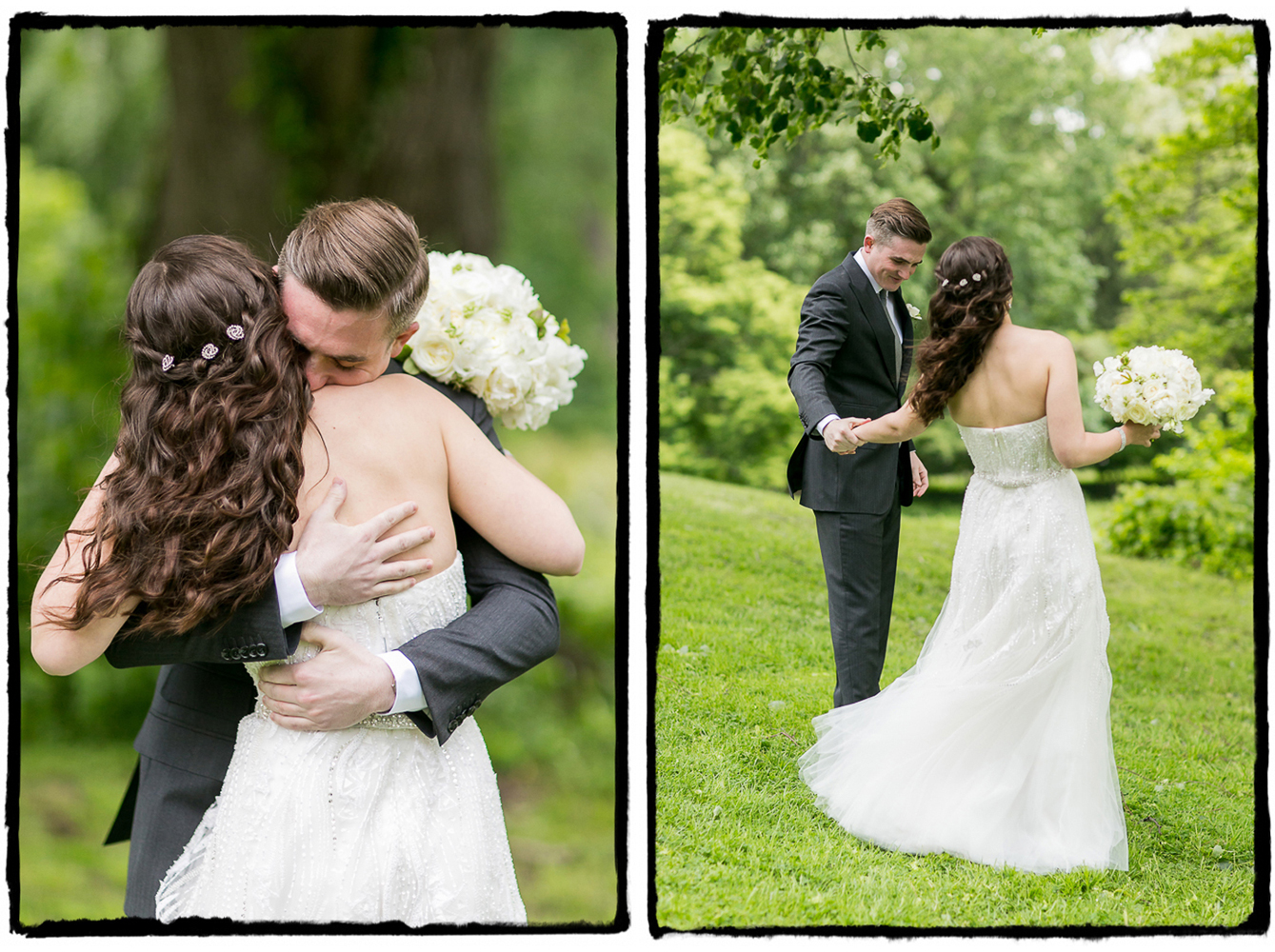 Dave couldn't wait to hug Michelle at Lyndhurst Castle.