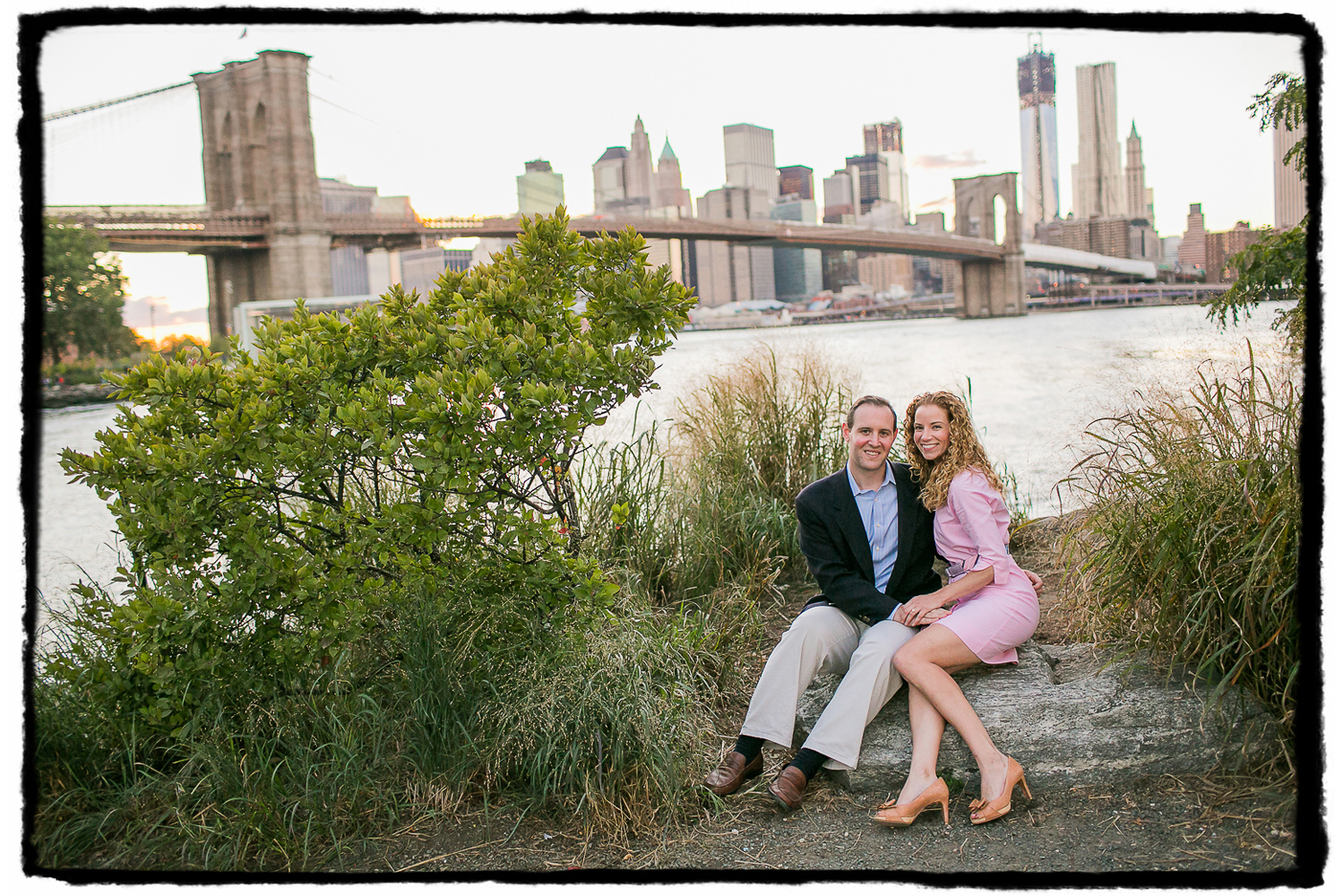 Engagement Portraits: Kelly & Scott in DUMBO, Brooklyn.