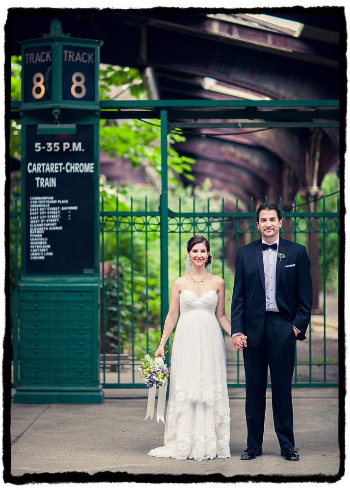 I took this portrait of Lauren & Rich in the old overgrown train station at Liberty State Park in Jersey City before their ceremony and reception at Liberty House just three minutes away.