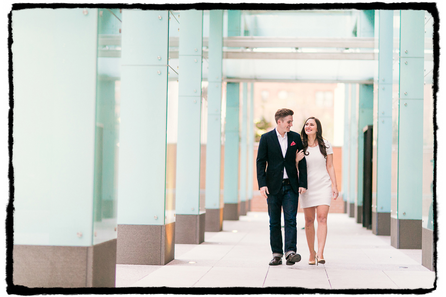 Engagement Portraits: Michelle & Dan take a walk near Washington Square Park.