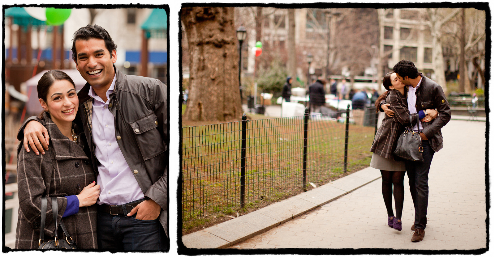 We took a few 'just engaged' portraits around the park.