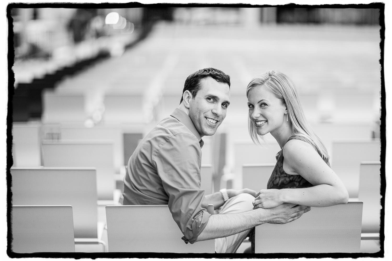Engagement Portraits: Gena & Josh at Lincoln Center.